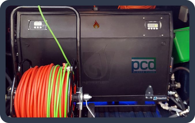 Hot Purified Water System Window Cleaning Pcd Window Clean